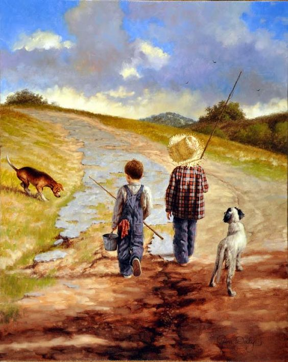 A Fine Day for Fishing- Jim Daly: