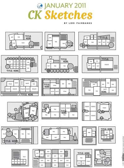 109 Best Sb Sketches Images On Pinterest Scrapbook Layouts