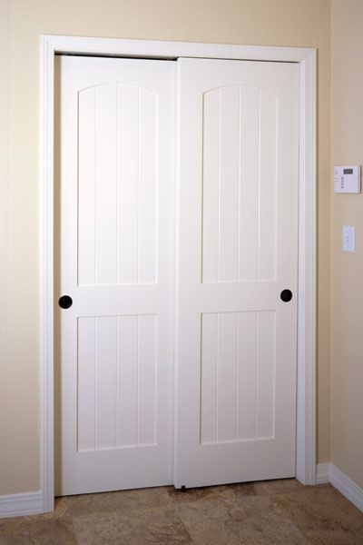 Pocket doors sliding doors and craft rooms on pinterest for Wood bypass closet doors