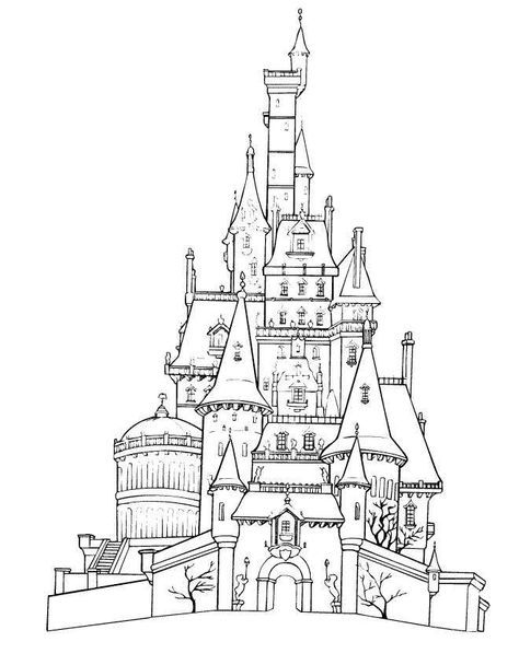 Coloring Page For The Kids Activity Book Belle S Castle Disneyland Paris Castle Coloring Page Disney Coloring Pages Free Disney Coloring Pages