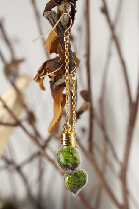 WithRoots Terrarium Heart Earrings.         #IWouldBuyThisForYou