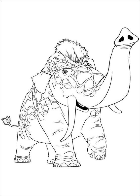 Desenhos para pintar Croods 4
