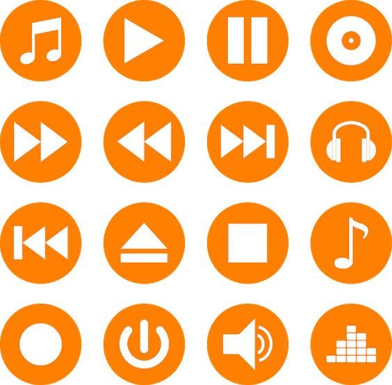Download Music Player Icons Vector Color Set Svg Eps Png Psd Ai Di 2020