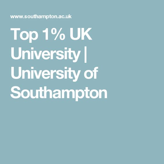 Top 1% UK University | University of Southampton