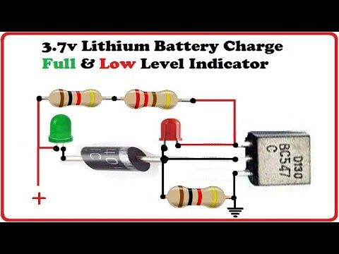 3 7v Battery Charge Full Low Level Indicator Youtube Electronic Circuit Projects Electronic Circuit Design Electronics Projects Diy