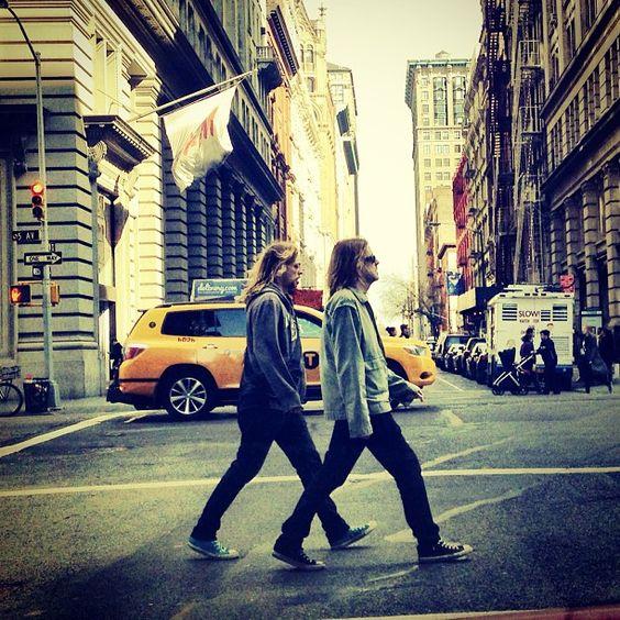 The Beatles walk.