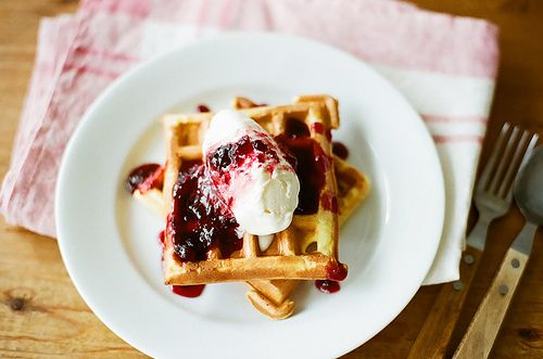 Buttermilk Waffles. This recipe sounds perfect.