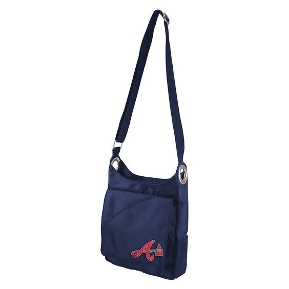 Atlanta Braves MLB Color Sheen Cross-body Bag (Navy)