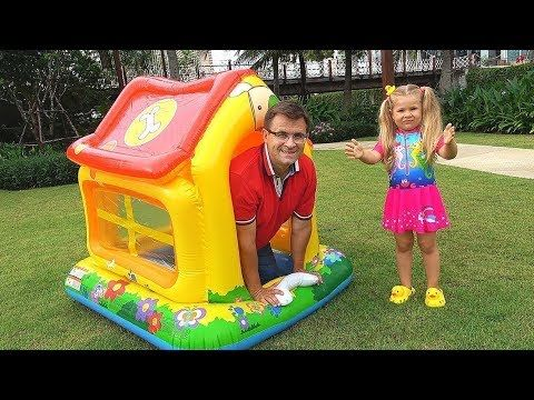 Diana And Roma Play With Playhouse For Children Youtube Funny Videos For Kids Play Houses Diana