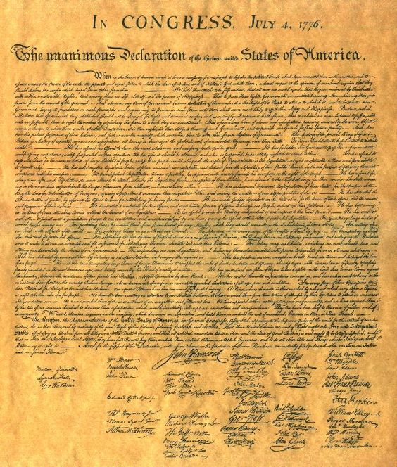The declaration of independence of elaborates of the Enlightenment idea of?