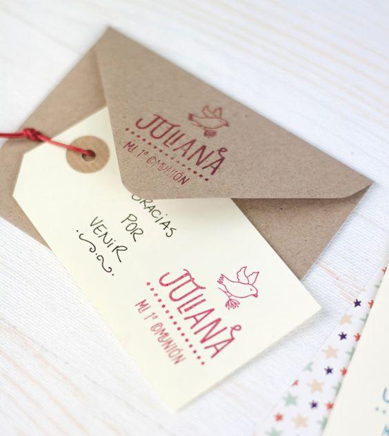 C mo usar tu sello para hacer la comuni n de tu peque m s - Hacer tarjetas de comunion ...