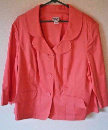 Miss-Dorby-Women-039-s-Peach-Plus-Size-20W-Blazer