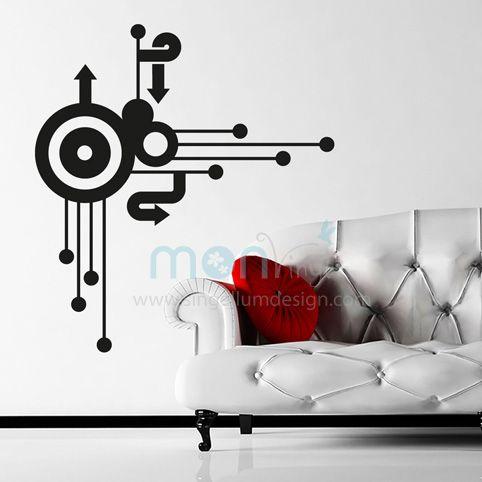 Vinilo retro circular vinilos decorativos vinilos for Decoracion paredes vinilos adhesivos