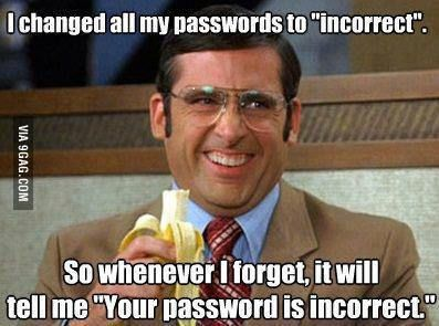 9GAG - Your password is incorrect