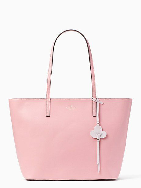 Kate Spade Kelsey Tote Bright Carnation Tote Black Cross Body