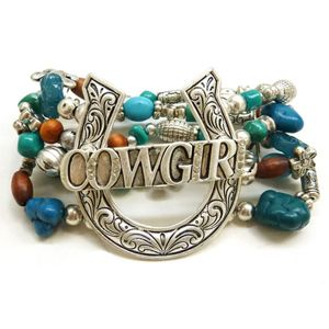 "Bracelet extensible avec perles ""Cowgirl "" ."