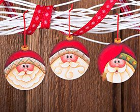 Round Santas by Mary Jo Tuttle