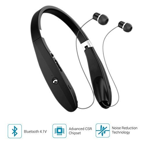 Portronics Por 927 Harmonics 200 Wireless Stereo Bluetooth Headset With Mic Black In The Ear Bluetooth Headset Headset Wireless