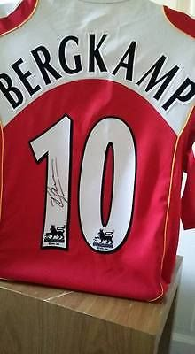 Authentic dennis #bergkamp signed arsenal #autographed no 10 #shirt the iceman aj,  View more on the LINK: 	http://www.zeppy.io/product/gb/2/222242940436/