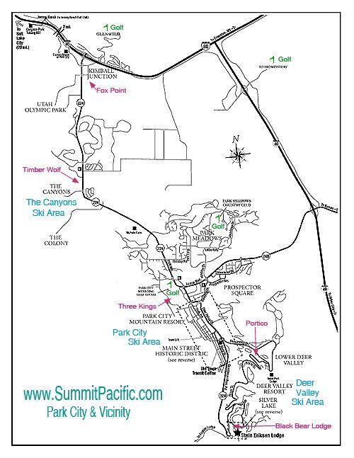 park city utah - Map