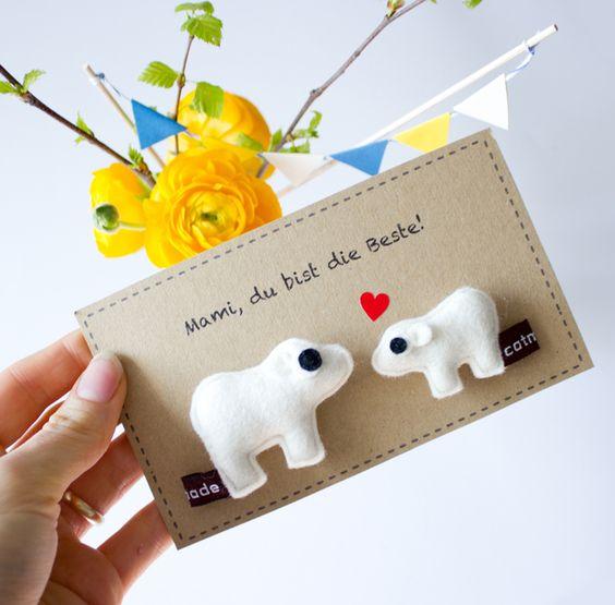 Accessoires - ♥ (Eisbär)Mamas sind die Besten! ♥ - ein Designerstück von Catmade bei DaWanda