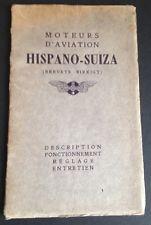 Moteurs d'Aviation Hispano-Suiza: WW I Aircraft Engine Manual, SE-5, Good, Orig.