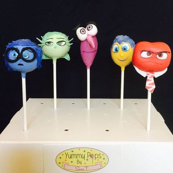 Inside Out Cake Pops: