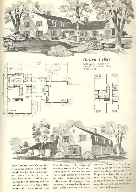 Dutch colonial house plans and the family on pinterest for Dutch colonial garage plans