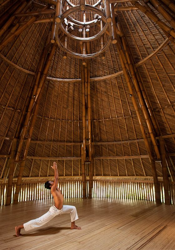 Tranquil room: One of the pavilion at the Fivelements where you can do your yoga routine or anything else. The resort also offers a variety of programs. (Photo courtesy of Fivelements Puri Ahimsa):
