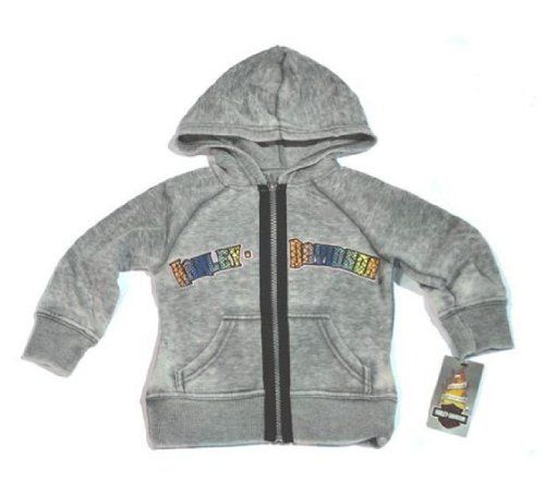 Harley-Davidson® Girl`s Terry Hooded Jacket. Cotton/Poly Blend. Colorful Block Lettering. Sizes 2T-12. 1121080 1131080 114... $17.95