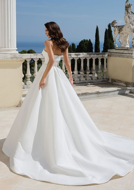 Ball Gown with Cuffed Neckline