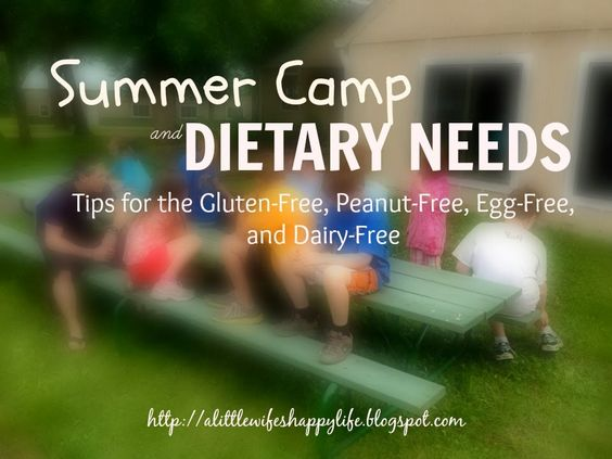 Summer Camp and Dietary Needs: Tips for the Gluten-Free, Peanut-Free, Egg-Free, and Dairy-Free