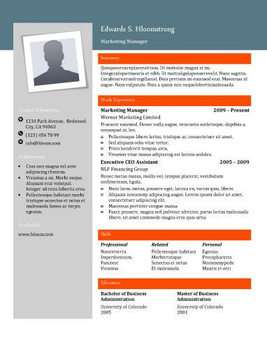 flyers free resume and resume on pinterest With hloom resume