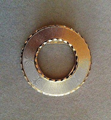 Vintage-Tom-Dourado-Leiba-Circle-Vestido-Cachecol-Clip-Venda-62416
