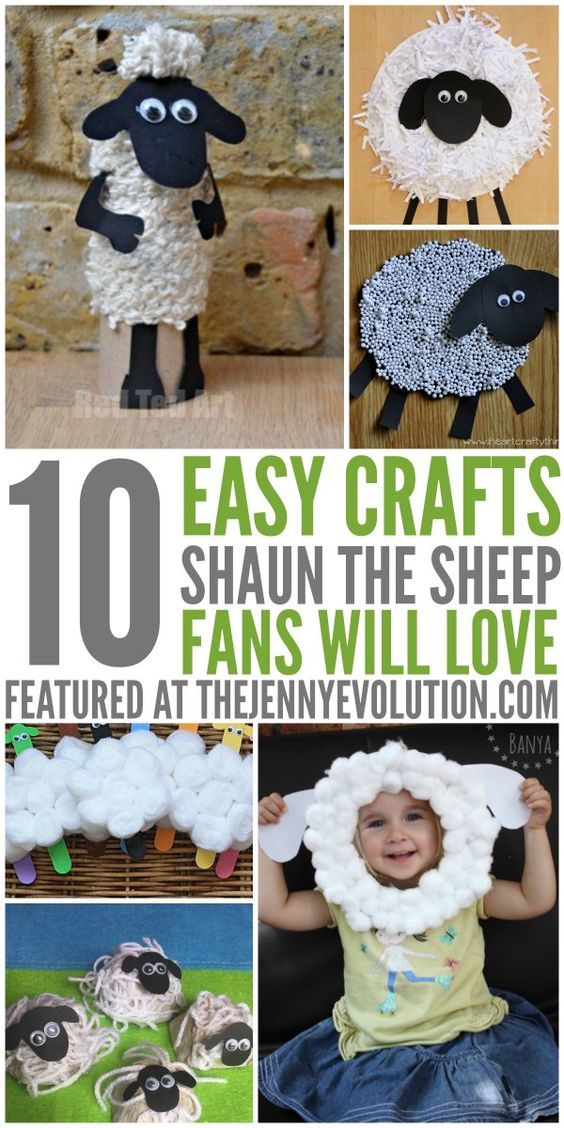 10 Easy Shaun the Sheep Crafts for Kids   The Jenny Evolution