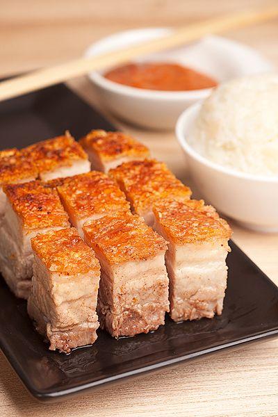 Asian crispy skin pork belly recipe