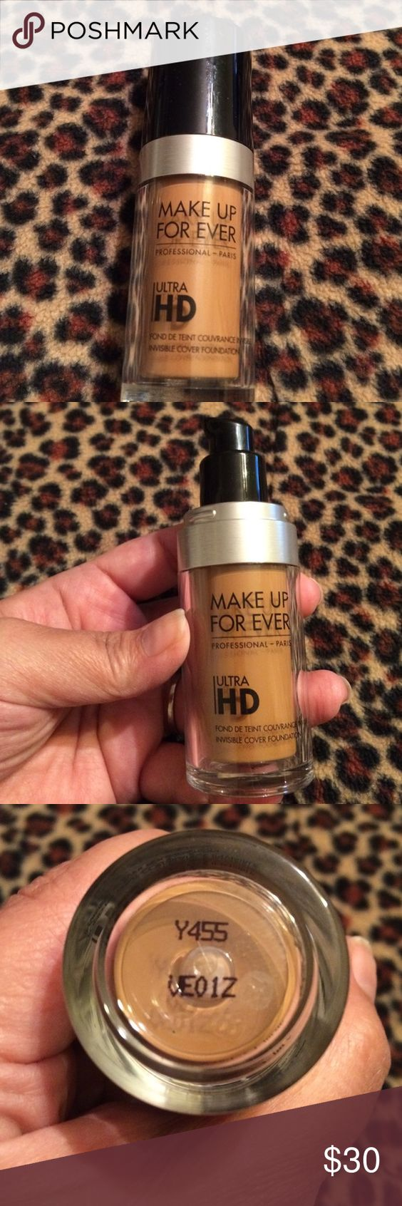 Make Up For Ever ~ Ultra HD Foundation ~ Praline Make Up For Ever ~ Ultra HD Invisible Cover Foundation ~ Color is Y455 Praline ~ NEW ~  Authentic Makeup Forever Makeup Foundation