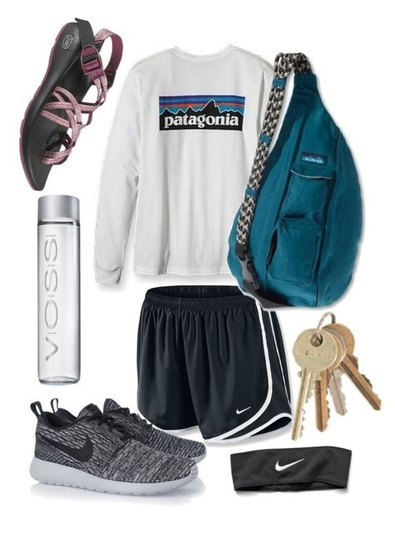 """Untitled #33"" by coconxt ❤ liked on Polyvore featuring NIKE, Kavu and Chaco:"