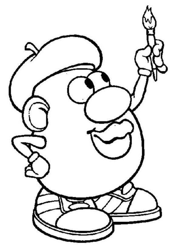 Mr Potato Head Famous Painter Coloring Pages Toy Story Coloring Pages Coloring Pages Bible Coloring Sheets