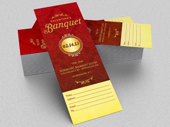 Valentines Pageant Ticket Template by Godserv Marketplace on - banquet ticket template
