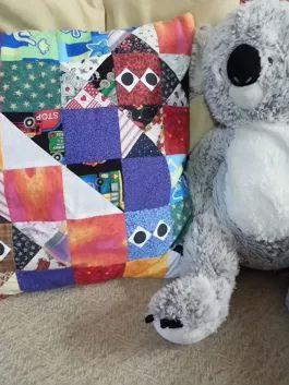 patchwork pillow case front
