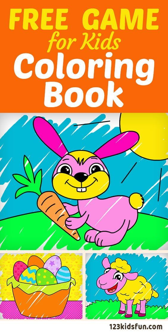123 Kids Fun Coloring Book Free Game For Kids Coloring Book Contains Lots Of Illustrations For Kids In G Free Games For Kids Coloring For Kids Coloring Books