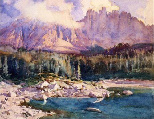 John Singer Sargent.  Karer See, 1914.