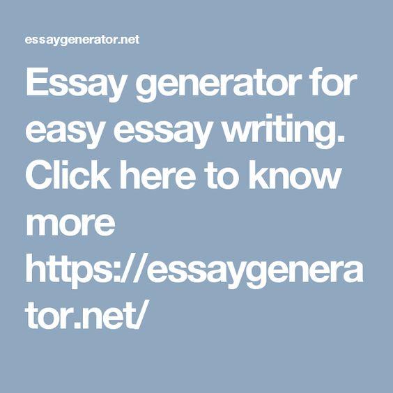 essay writer generator