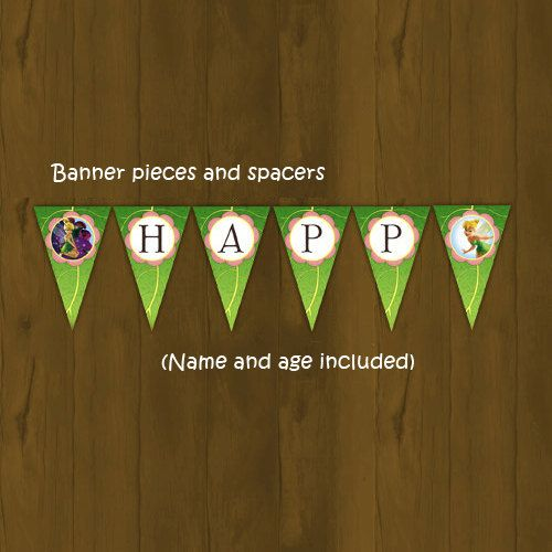 Tinkerbell Printable Birthday Banner  by SplashboxPrintables, $10.00