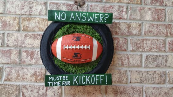 Football Kickoff Wreath by GameDayCraftsByLori on Etsy