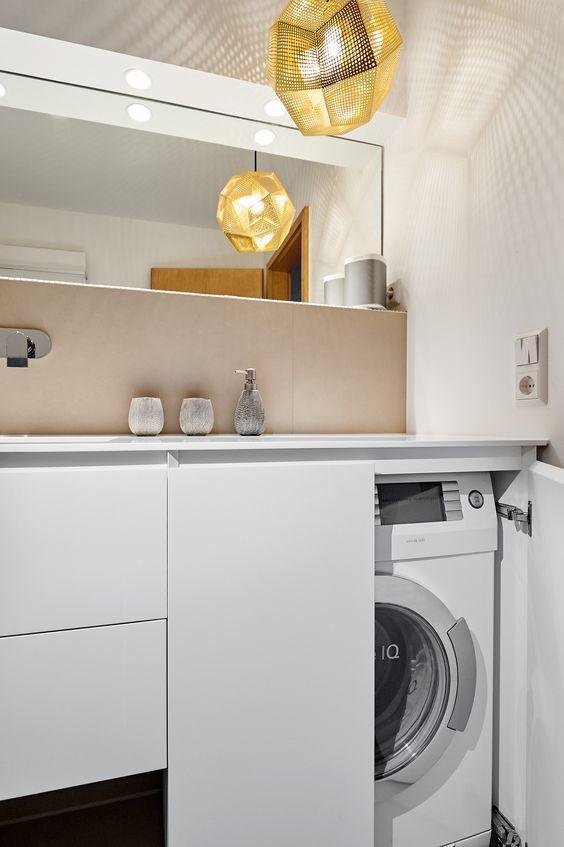 die waschmaschine verschwindet hinter schranktüren | bad und, Hause ideen