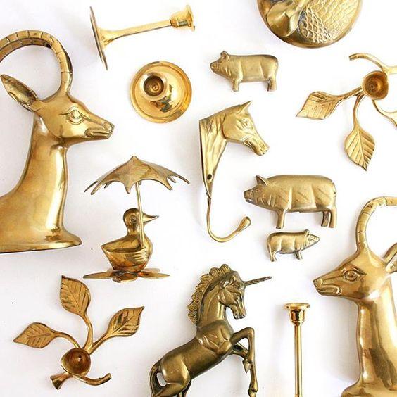 Collection of vintage brass :: Instagram @wiseapplevintage