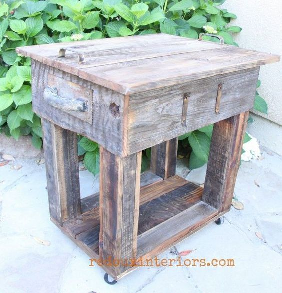 upcycled junk table with old wood overlay, painted furniture, woodworking projects