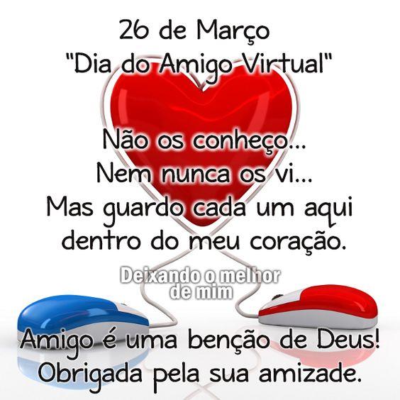 =mensagemais=: =Dia do amigo virtual=(26 de março)
